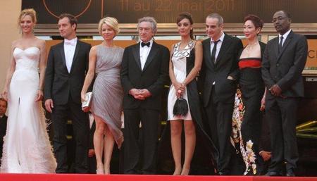 La Alfrombra roja de la presentación de la 64º edición del Festival de Cine de Cannes