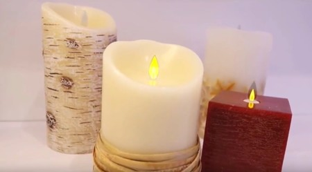 Estas curiosas velas no se gastan, ya que son en realidad lámparas OLED de bajo consumo