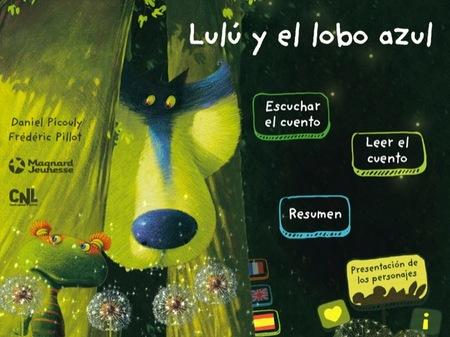 Lulú y el Lobo Azul es un libro interactivo con preciosas imágenes y música para leer y compartir con los peques
