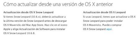 Actualización OS X Mavericks