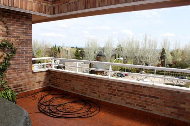 Terraza La Habitación Verde antes