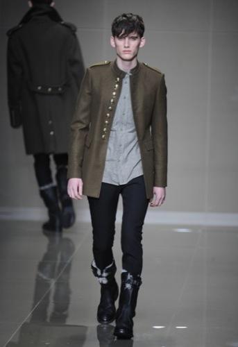 Burberry Prorsum, Otoño-Invierno 2010/2011 en la Semana de la Moda de Milán, cazadora