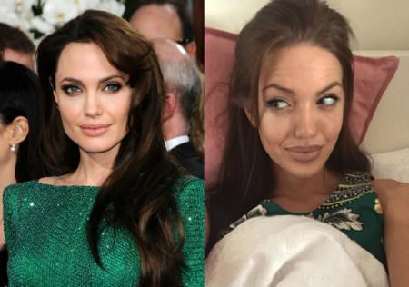 Conoce a la doble de Angelina Jolie que está arrasando en Instagram: Chelsea Marr