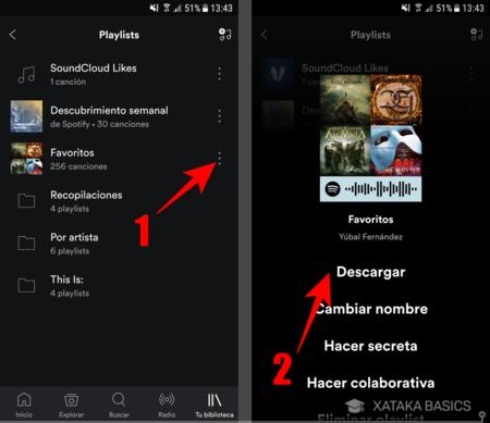 como hacer una lista en spotify iphone