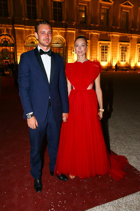 Beatrice Borromeo acapara todas las miradas en la boda de la princesa Anunciata de Liechtenstein con dos vestidazos de Dior