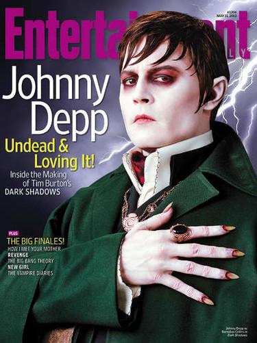 Johnny Depp en su línea, pasado de maquillaje