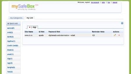 mySafeBox, una aproximación diferente para gestionar contraseñas: recordarlas