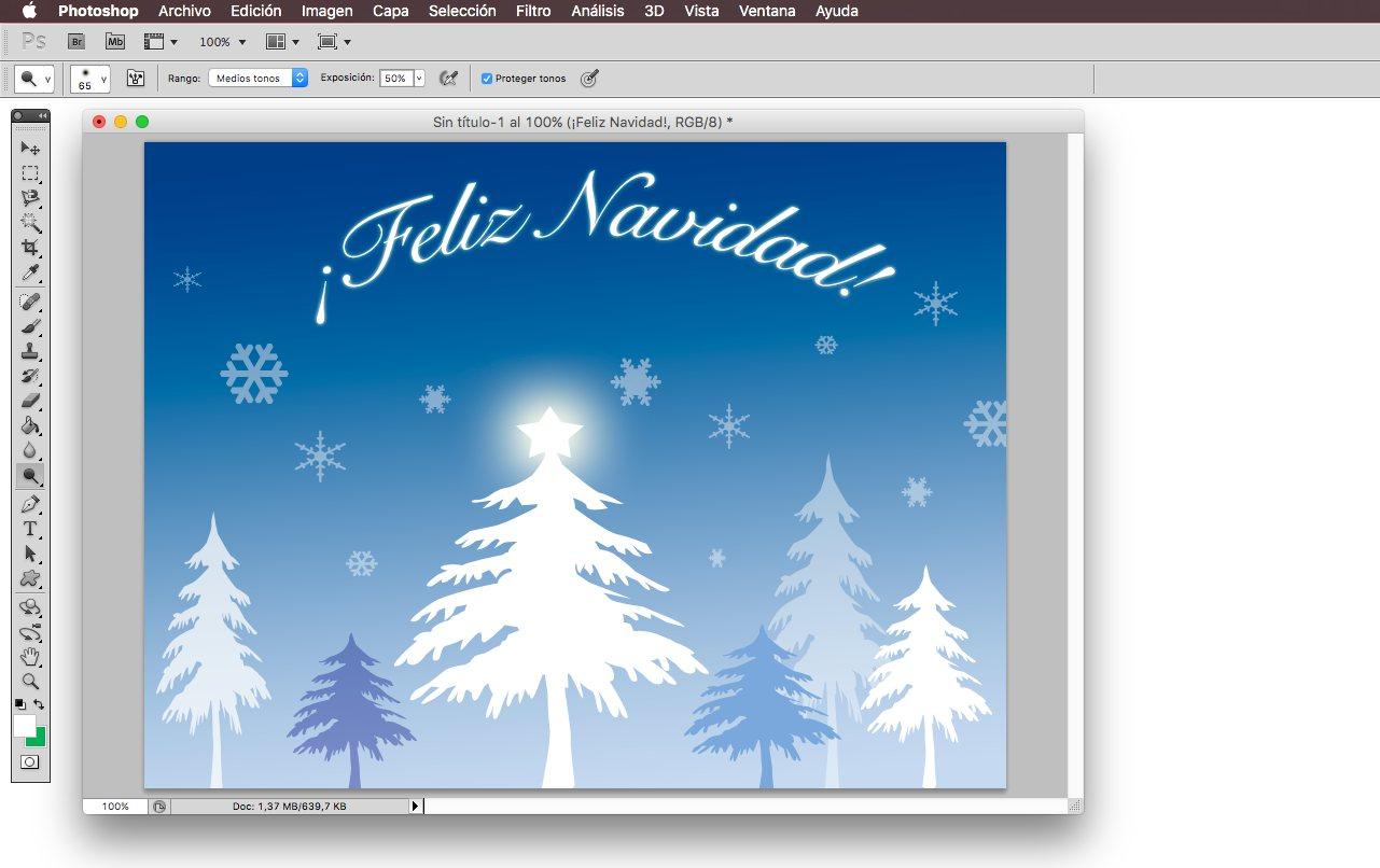 C mo crear una felicitaci n de navidad con photoshop - Como hacer una felicitacion de navidad original ...
