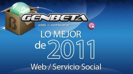Mejor web o servicio social de 2011: las votaciones