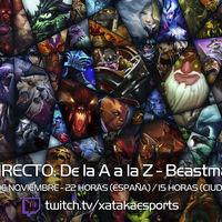 """Beastmaster en directo con la sección """"Dota 2 de la A a la Z"""" a las 22:00 horas (las 15:00 en Ciudad de México)"""