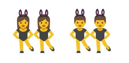 Men With Bunny Ears Partying Emojipedia Android 7 1