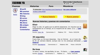 Escribeya, nueva red social hispana para la creación literaria