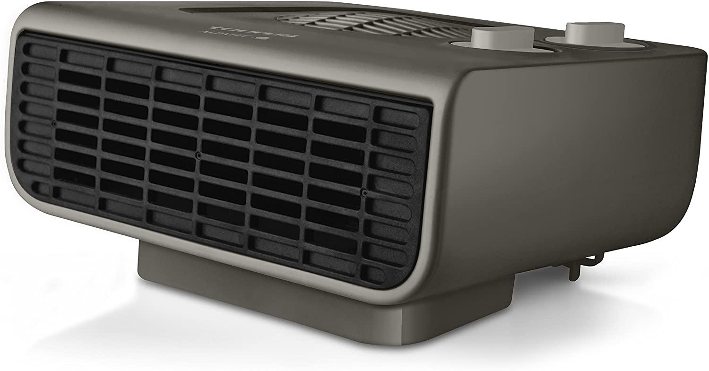Taurus Tropicano Java 2100 IP Termoventilador, calefactor, 2 posiciones de calor, 2000 W, Función ventilador, termostato regulable, piloto luminoso, silencioso, color gris [Clase de eficiencia energética A]