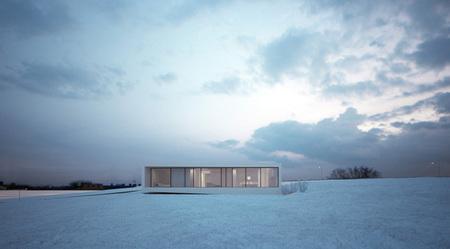 Casas que inspiran: minimalismo en la nieve