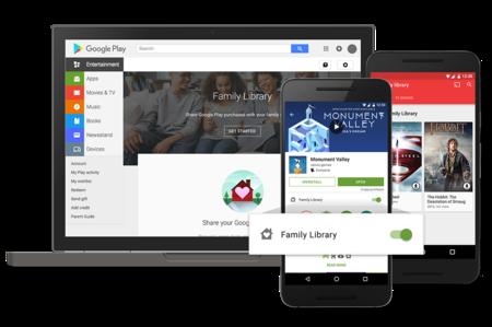 El plan familiar de Google Play llega a España: ya puedes compartir tus compras y suscripción de música con tu familia