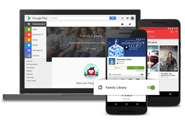 Google Family Library