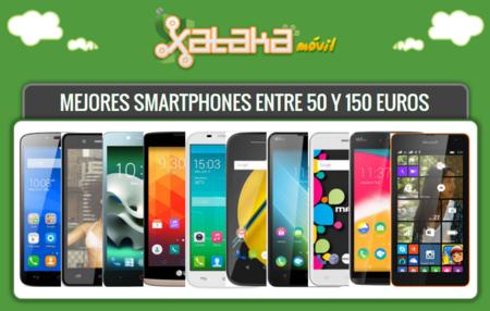 Los mejores smartphones entre 50 y 150 euros libres o con pago a plazos en operadoras
