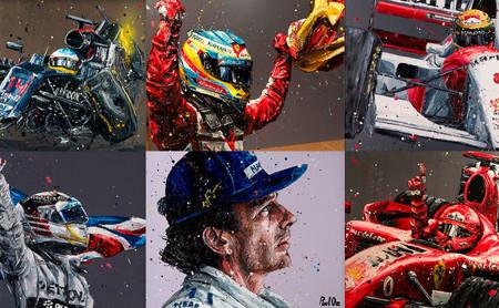Los impresionantes retratos de los protagonistas de la Fórmula 1, por cortesía del pincel de Paul Oz