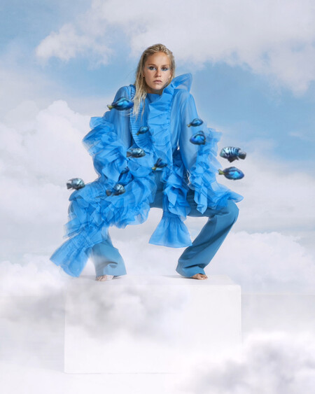 Volantes, lentejuelas y colores brillantes: la nueva colección de H&M Studio se convierte en obra de arte gracias a Ernesto Artillo