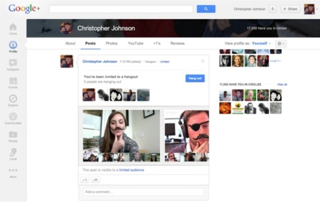hangouts capture videoconferencia google plus