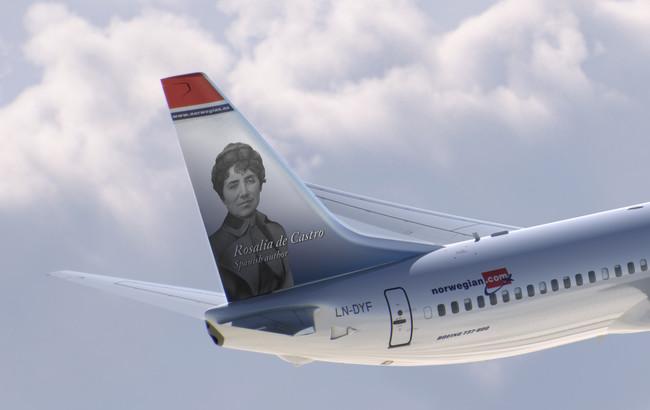 Norwegian Le Dedica Un Avion A Rosalia De Castro Copia