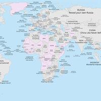 Un mapa con todos los eslóganes turísticos del mundo: horas de diversión garantizada