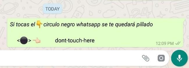 El círculo negro de WhatsApp: el mensaje que bloquea el uso del mensajero, qué es y cómo funciona