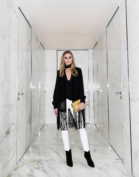 Olivia Palermo Como Combinar Pantalones Blancos 01