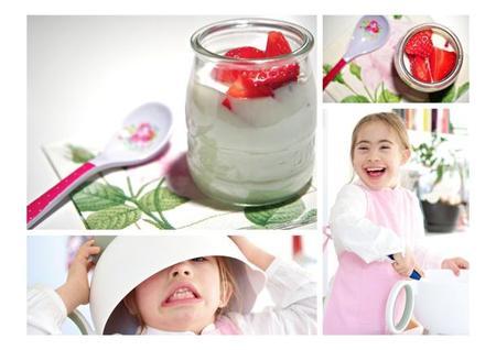Receta de panacota de fresas para cocinar con niños