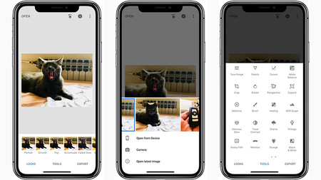 Snapseed de Google ya es compatible con la pantalla del iPhone X