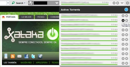 uTorrent Control, controla tu cliente BitTorrent desde una barra de herramientas en tu navegador