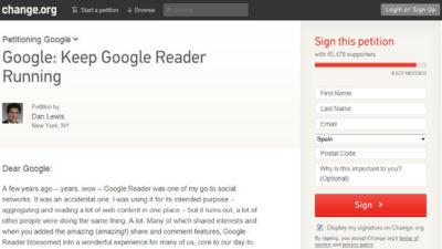 La comunidad pide a Google que no cierre Reader