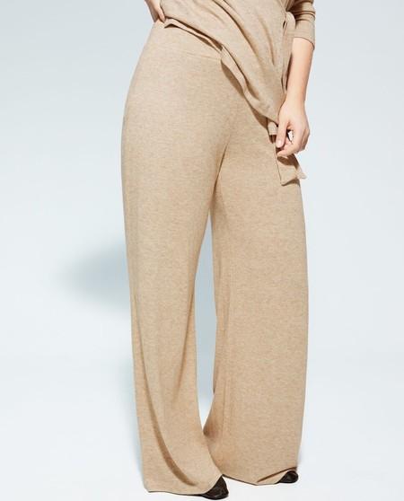 Pantalón de mujer punto corte recto con cintura elástica