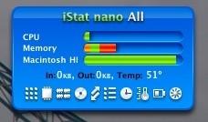 iStat nano 1.8 disponible: Por fin compatible con los Macs Intel