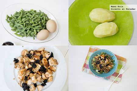 ensalada-judias-verdes-y-salmon-paso-a-paso