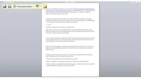 Microsoft Word 2007 como editor minimalista: Ejemplo y herramientas