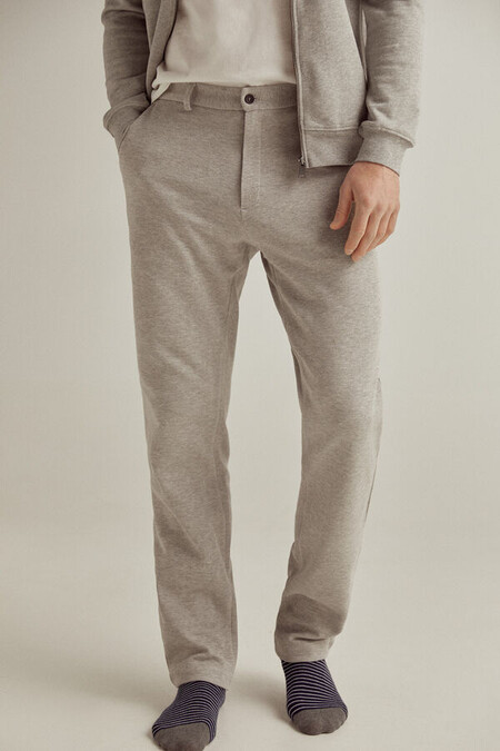 Pantalon Sostenible Punto Cinturilla Elastica Slim