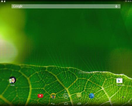 Android-x86, configuración por defecto