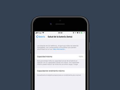 Salud de la batería, así es la nueva función de iOS 11.3 que nos permite elegir entre rendimiento y estabilidad