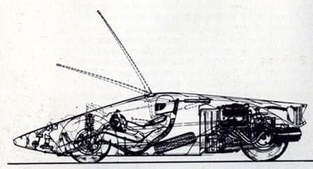 Lancia Stratos Zero Boceto