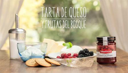 Tarta de queso y frutas del bosque. Recetas en vídeo