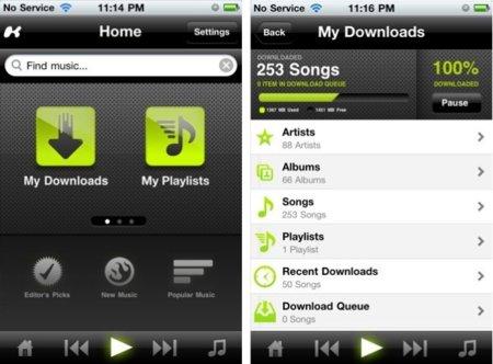 Streaming en el iPhone: Kazaa regresa para competir con Spotify pero son muchos más los que lo intentan