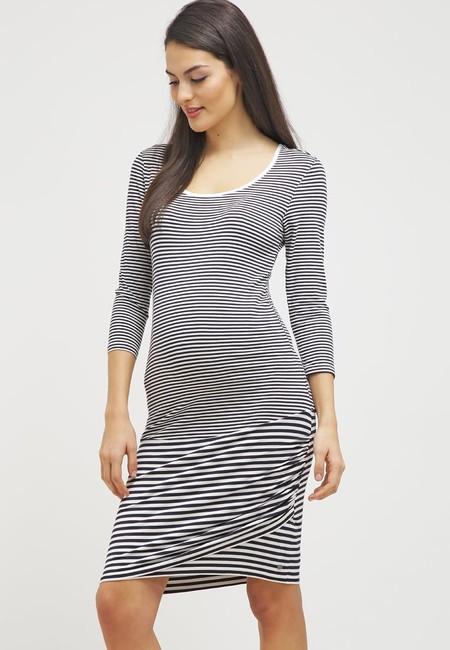 Esprit Maternity Vestido De Algodon Dark Navy