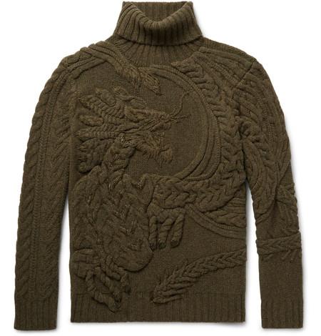 Ralph Lauren Eleva Los Tejidos A Un Nivel Artistico Insuperable Con Este Sueter Con Motivo De Dragon