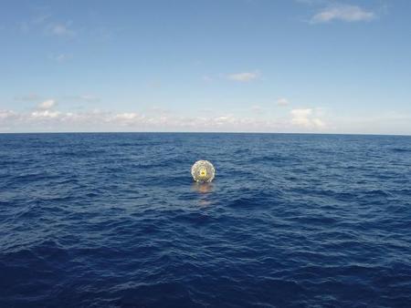 De Miami a Bermudas corriendo en esfera de plástico
