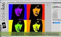 Efecto Andy Warhol con Photoshop. Vídeo Screencast