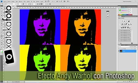 Efecto Andy Warhol con Photoshop. Vídeo Screencast