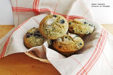Muffins de moras azules. Receta altitudes altas para el Día de las Madres