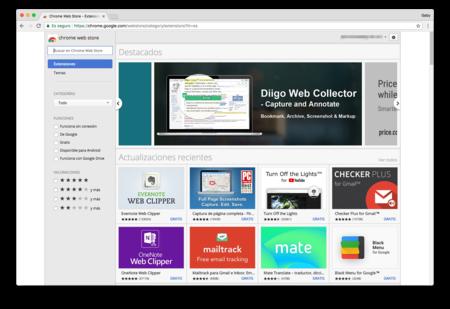 Chrome Web Store Extensiones