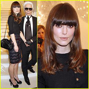 Keira Knightley en el front row de Chanel Alta Costura